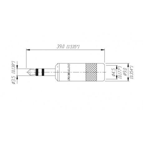 Neutrik 3.5 mm stereo plug