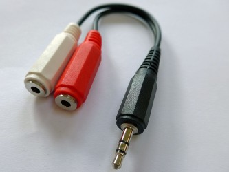 3.5mm Stereo Plug to 2 x Mono Sockets, 15cm