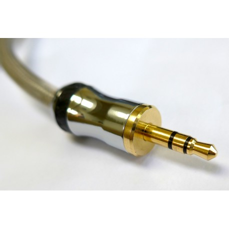 Philips 3.5mm Plug to Plug Lead, Gold, Stereo 1.5m
