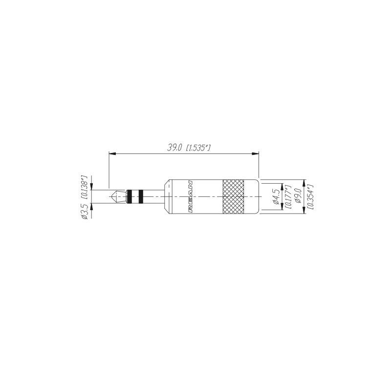 neutrik 35 mm stereo straight plug  micbooster