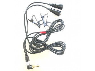 Stereo Clippy, Right Angle Plug with 2x Old type Spare Clips