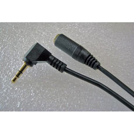3.5 mm Mic Extension Cable, 1 Metre