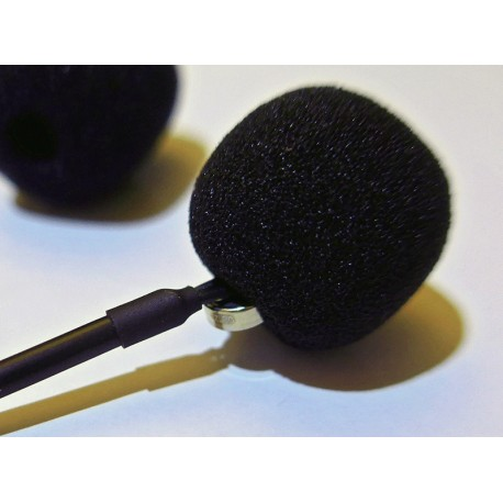 Foam Windshield for 5 mm microphones with EM258 Mono module
