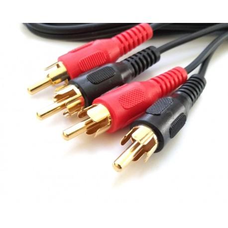 Phono to Phono Lead, Stereo 2 Metres