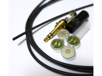 DIY Stereo Microphone Kit of Parts thin Mogami 2368 with Primo EM272 capsules
