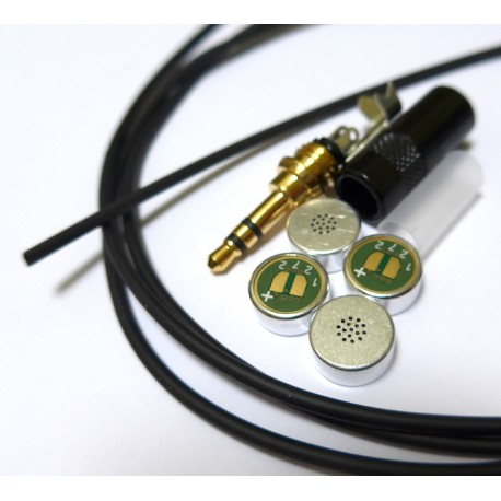 DIY Stereo Microphone Kit of Parts Mogami with Primo 4 Matched EM272 capsules