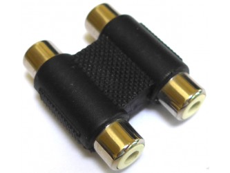 Twin Phono RCA Adaptor/Coupler/Extender