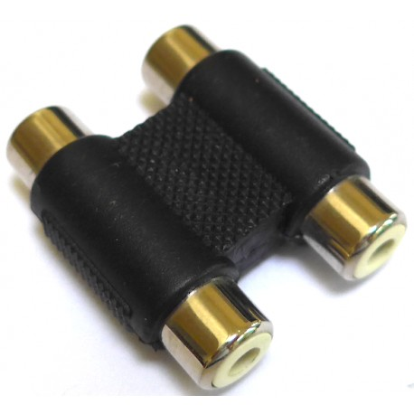 Adaptor, 2 x Phono, Gold
